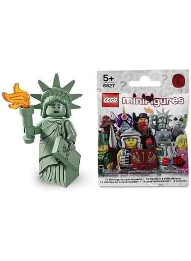 Lego Lego Minifigür - Seri 6 - 8827 - Özgürlük Heykeli Renkli